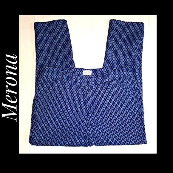 Merona Stretch Extensible Dress Pants Blue Combo